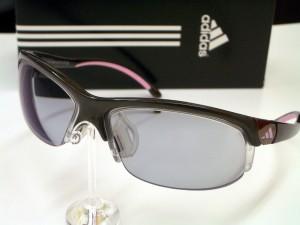 アディダススポーツサングラス 度付カーブ調光レンズ 度付スポーツサングラス