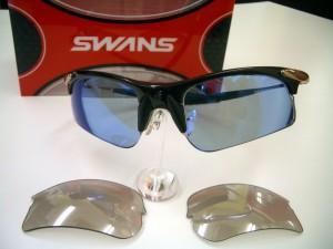 スワンズCYNIUM-RM-SCPBK オリジナル度付スポーツサングラス