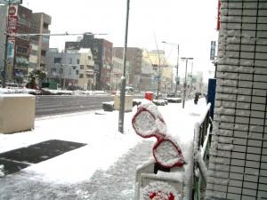雪かき 今年2回目 冷たかった雪