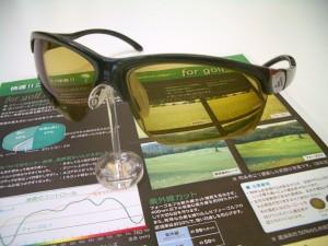 ゴルフ用レンズ  スポーツサングラス  for golf