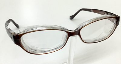 花粉症防止メガネ スカッシーフレックスプラス 曇り止め効果のレンズ 度入りレンズ対応